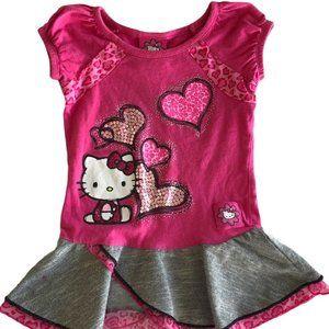 Hello Kitty Size 4 Heart Dress